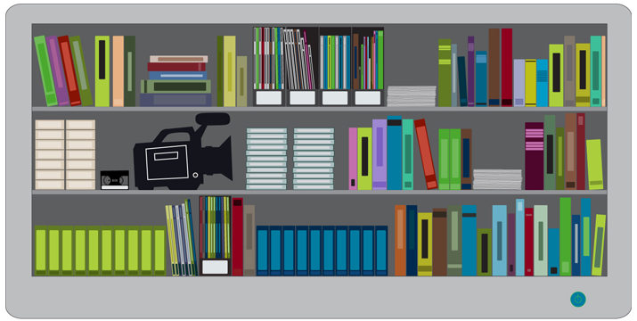 research library-graphic