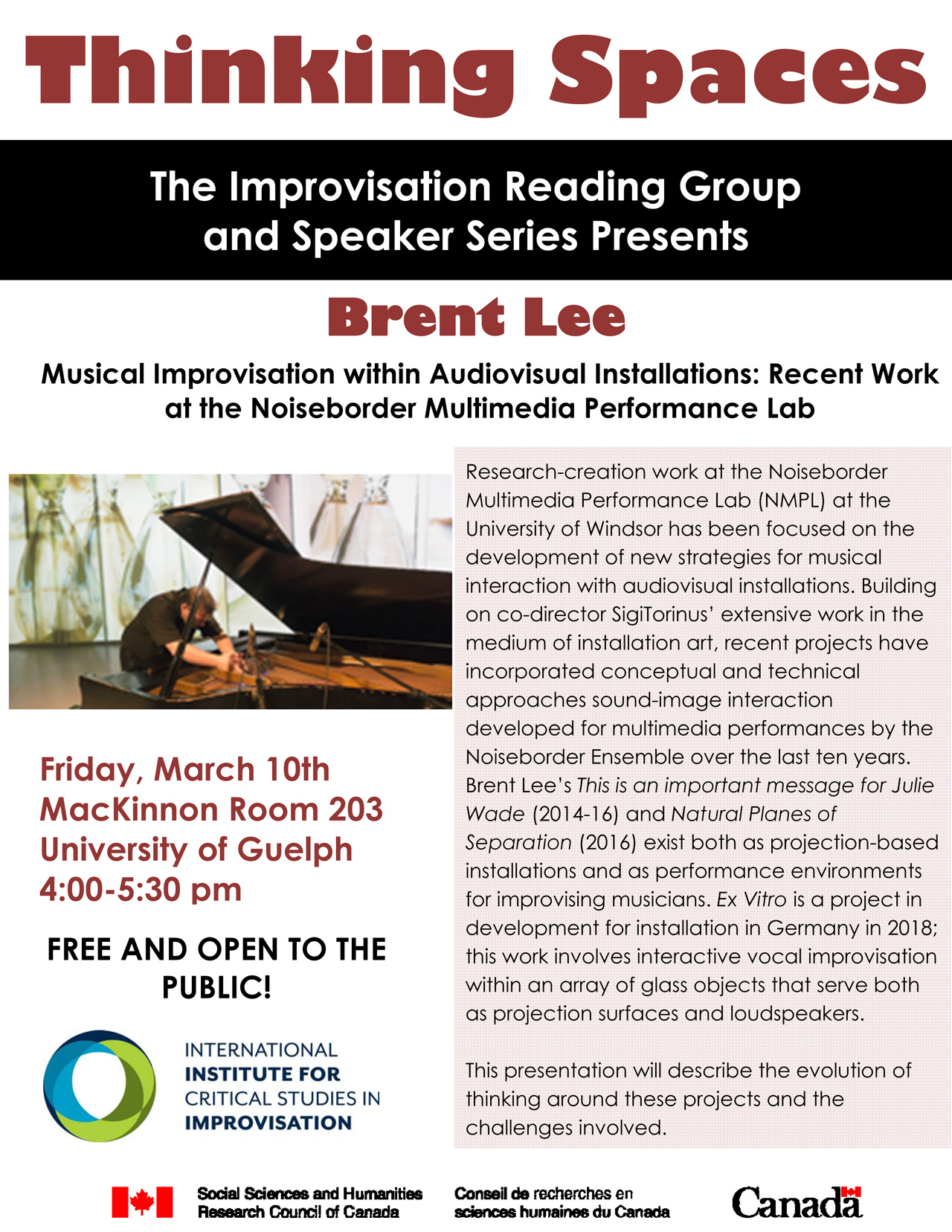 Thinking Spaces Reading Group Pster Brent Lee