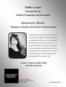Jeannette Hicks lecture poster