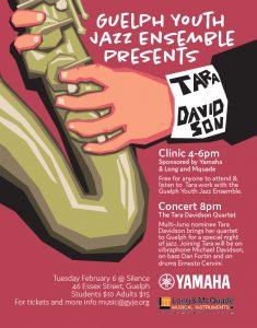 Concert with the Tara Davidson Quartet poster