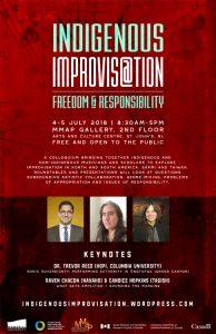 Indigenous Improvisation Colloquium poster