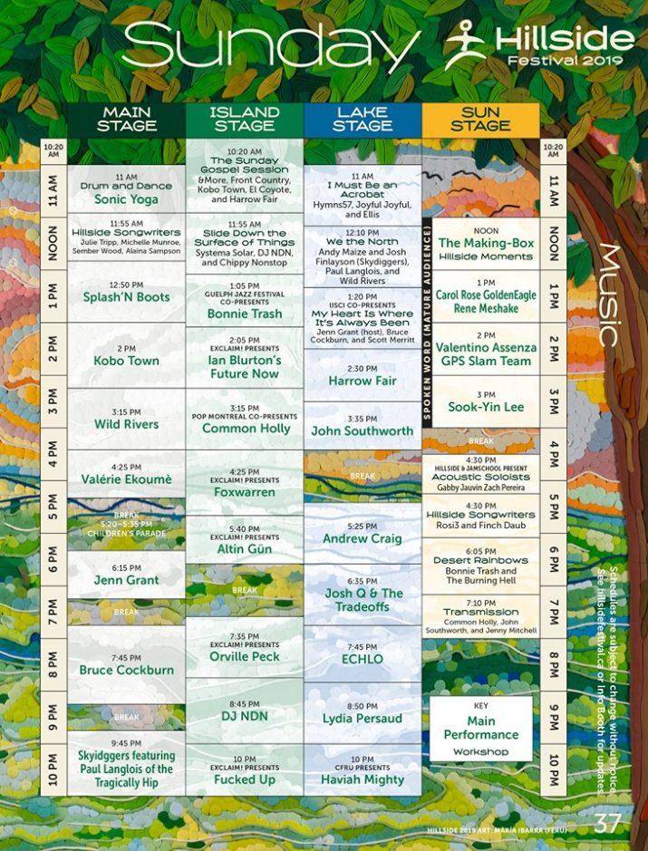 hillside sunday schedule