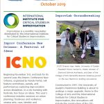 ImprovNotes oct 2019 screen catpure of the newsletter