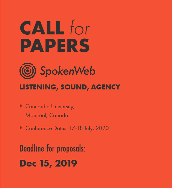 sppokem web call for papers graphic for the symposium Listening sounda agency