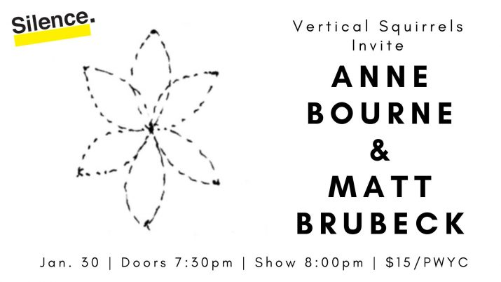 Vertical Squirrels Invite: Anne Bourne and Matt Brubeck poster