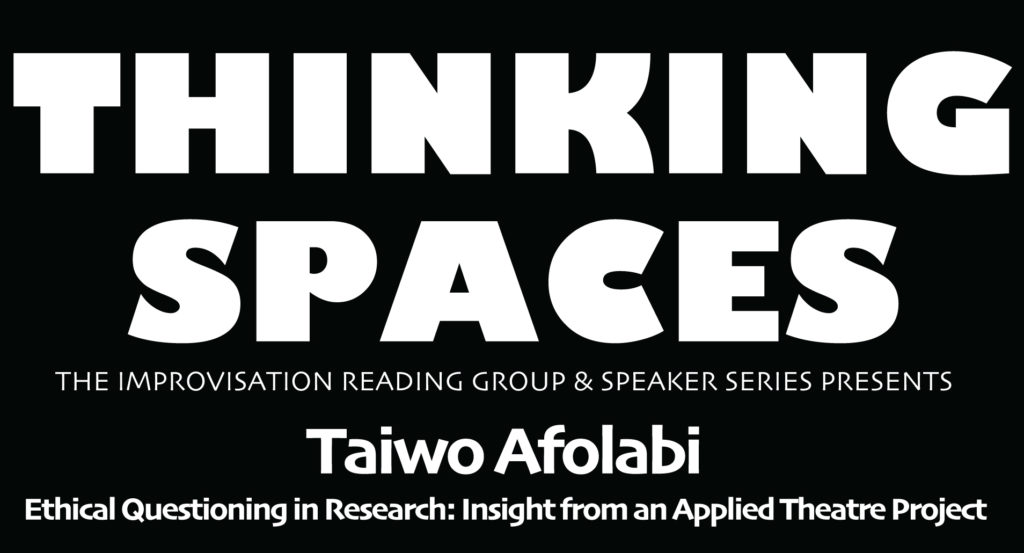 Thinking Spaces with Taiwo Afolabi graphic