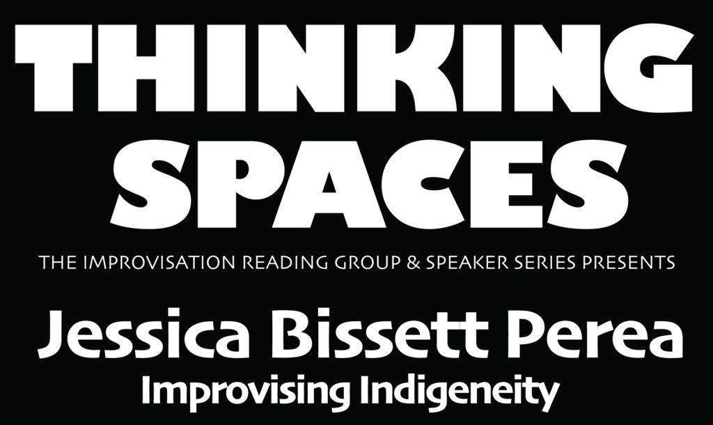 black and white graphic for Thinking Spaces
