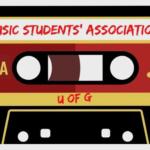 "A cassette tape reads ""Music Students' Association"""