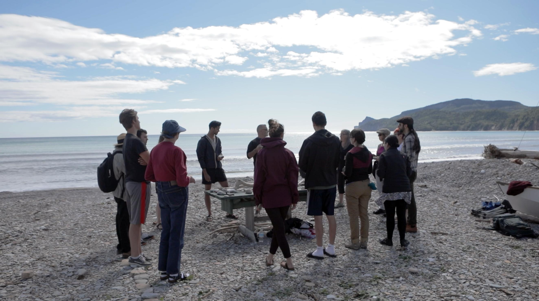 MILE Camp 2017 beach workshop