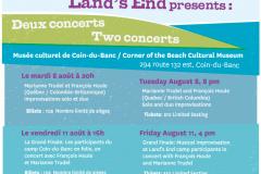 MILE Camp Deux Concerts poster