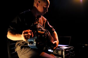 Ben Grossman playing hte hurdi Gurdi