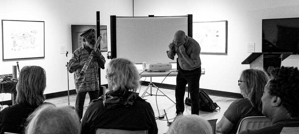 Douglas R. Ewart and Chris Tonelli improvising at the 2019 GJFC