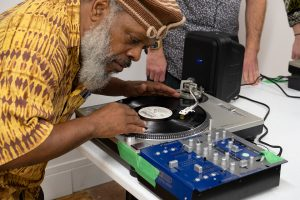 Douglas R. Ewart at Finding the Groove a the 2019 Guelph Jazz Festival Colloquium turntablism workshop