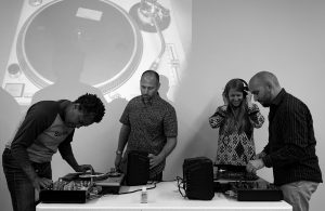Participants Finding the Groove a the 2019 Guelph Jazz Festival Colloquium turntablism workshop