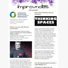 ImprovNotes newsletter decorative screencapture for Feb 2021